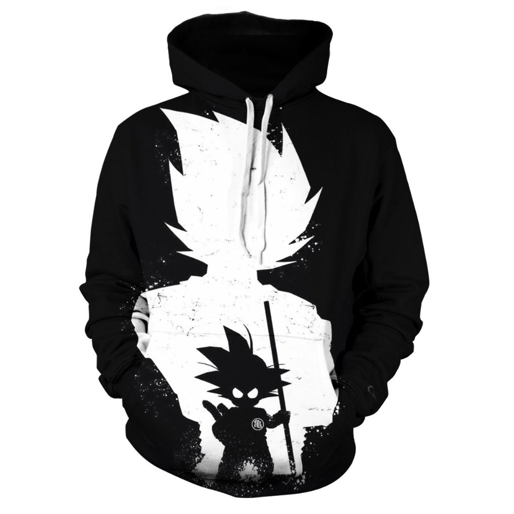 Goku Hoodie Mens Hoodies Dragon Ball Sweatshirt Men Tracksuit Black 3d Print Pullover Anime Coat Streetwear DropShip 2019