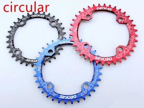 Deckas 104BCD Bike CNC Narrow Wide Round Oval Chainring BMX Chain Ring 32~38T