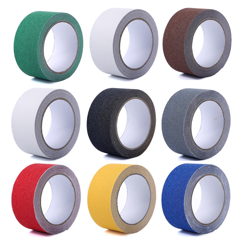 5CM*5M PVC Anti Slip Tape Waterproof Self Adhesive Stair Non-Slip Safety Warning MatteTape For Floor Kitchen Bathroom P0 5cm 5m frosted surface anti slip tape abrasive for stairs tread step safety tape non skid safety tapes