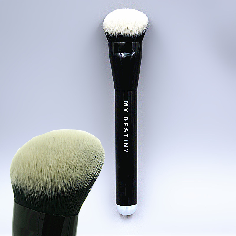 Brand Foundation Liquid Brush Powder Blush Concealer Contour Makeup Brushes Black Metal Handle anastacia cap roig