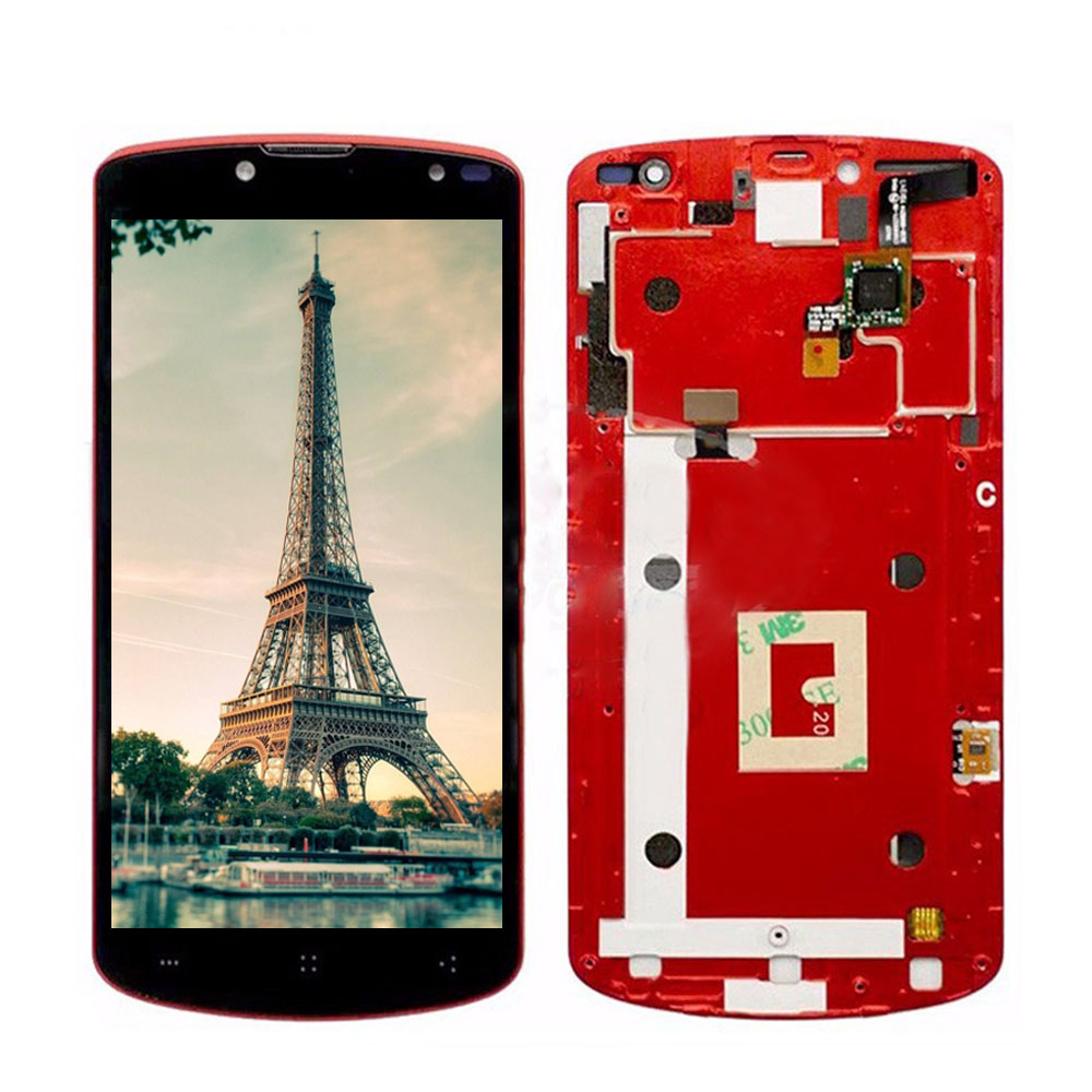 LCD Display Touch Screen For Prestigio MultiPhone PAP 7500 PAP7500 LCD Digitizer Assembly With Frame