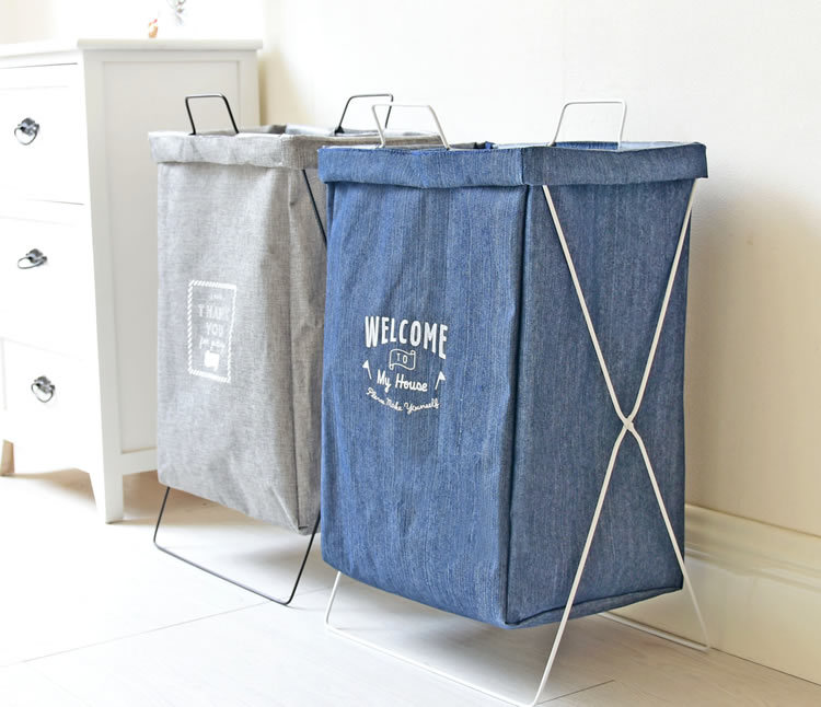 Us 14 26 15 Off Large Laundry Basket Waterproof Storage For Bathroom Home Organizer Bags Dirty Clothes Shelf In