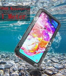 Image 3 - AMORE MEI Potente Cassa Del Metallo Per Samsung Galaxy A70 Cassa di Alluminio Impermeabile Antiurto Copertura per Samsung A70 Gorilla di vetro UN 70