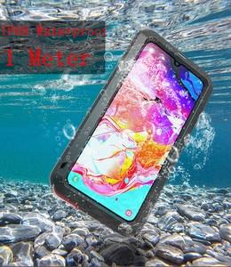 Image 3 - LOVE MEI étui pour Samsung Galaxy A70 en métal puissant étui étanche en aluminium housse antichoc pour Samsung A70 Gorilla glass A 70