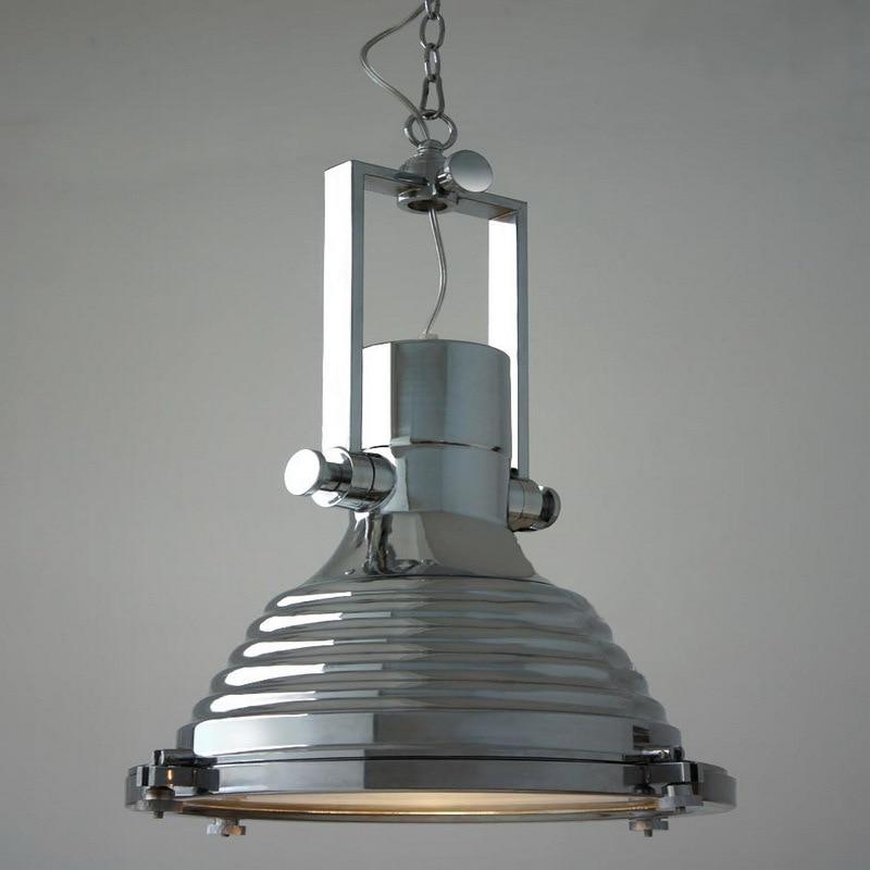 Dia40cm American Industrial Loft Vintage Pendant Lights For Dining Room Iron Black Silver Bronze E27 Edison Home Lamp WPL172