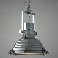 Dia40cm Amerikanischen Industrie Loft Vintage Pendelleuchten Für Esszimmer Eisen Schwarz Silber Bronze E27 Edison Hause Lampe WPL172