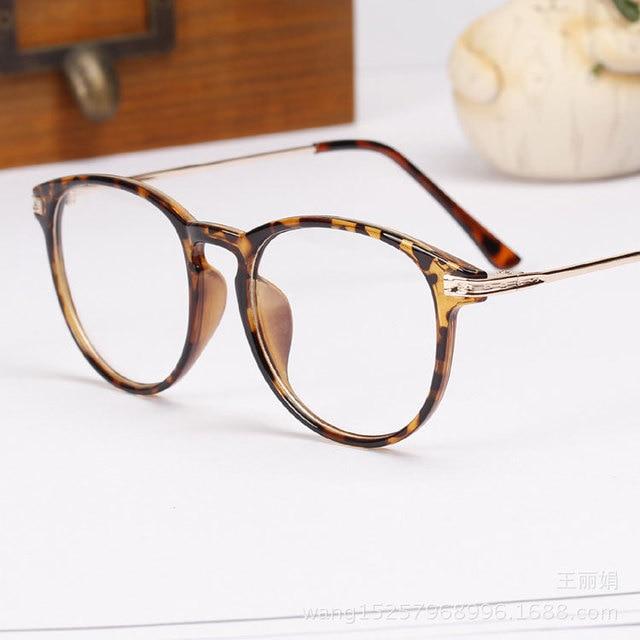 56c0a4a0b3 2015 New Brand Fashion Glasses Frame Oculos De Grau Femininos Round  Computer Vintage Eyeglasses Optical Frame Spectacle N118