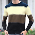 New 2017 Autumn Winter High Quality Casual Sweater Men Pullovers Brand Knitting Long Sleeve Slim Fit Knitwear Sweaters