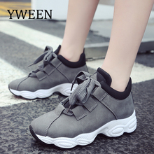 hot deal buy yween wholesale casual shoes women lace up sneakers women spring shoes for women flats breathable sport casual shoes
