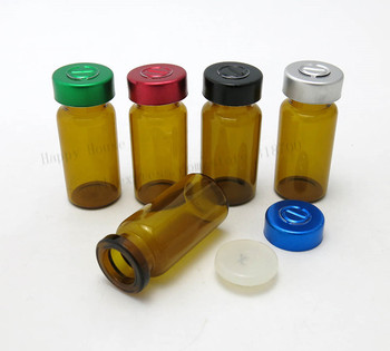 360 x 8ml amber small glass vials bottle, essence perfume vials container,aluminum colorful flip lids&secure rubber stopper