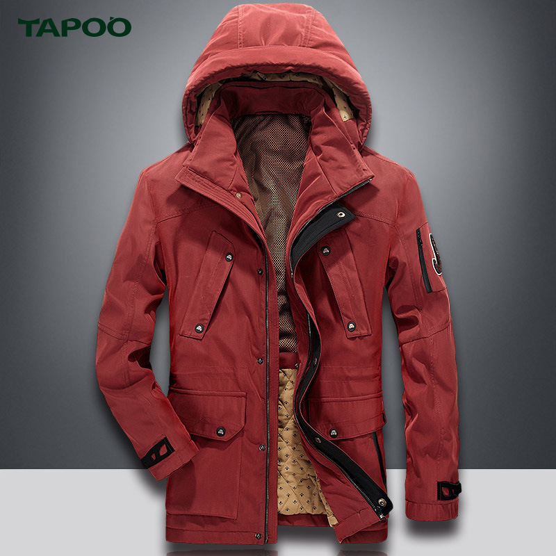 TAPOO Warm Mens Parkas Mens Jacket Casual Outerwear Warm Winnter Coat Men Overcoat Outerwear With Larger Size 3XL 3Colors ...