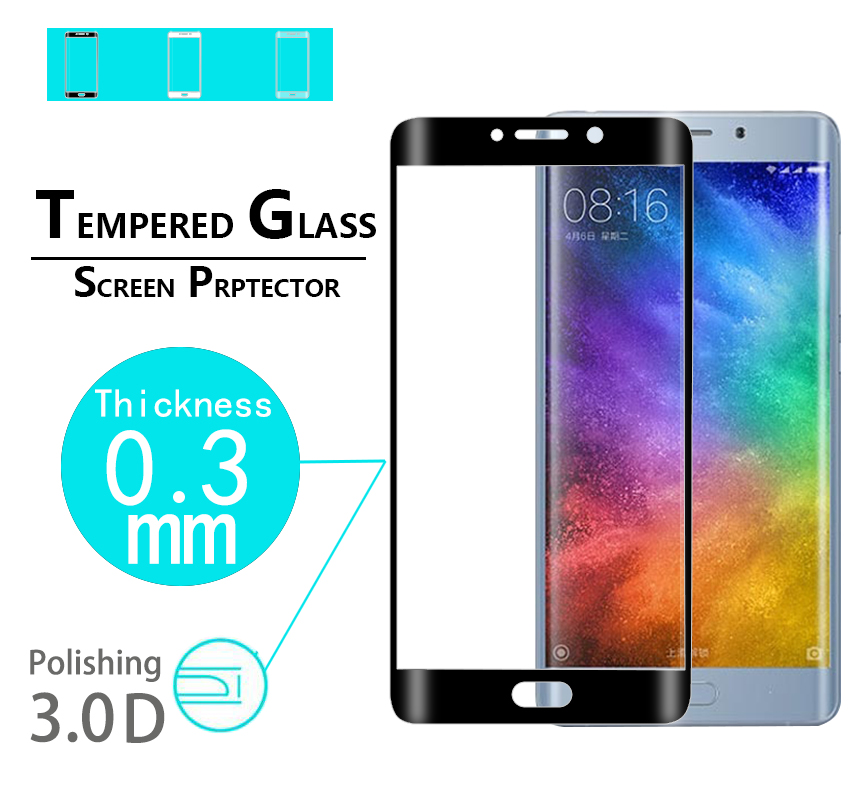 New style Full glass Cover 3D tempered glass film For Xiaomi note 2 3D Glass film For Xiaomi mi note 2 Curved edge glass film