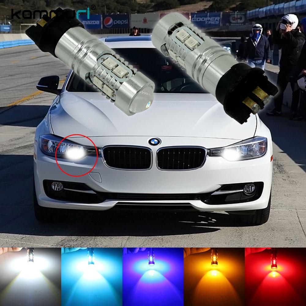 Error Free PWY24W PW24W LED Bulbs For Audi A3 A4 A5 Q3 VW MK7 Golf CC Front Turn Signal Lights, For BMW F30 3 Series DRL Lamps 2pcs amber error free pwy24w pw24w led bulbs for audi a3 a4 a5 q3 vw mk7 golf cc front turn signal lights bmw f30 3 series drl