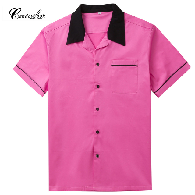 Heren Overhemd Roze.Candow Look Online Westerse Amerikaanse Katoen Mannen Overhemd Roze