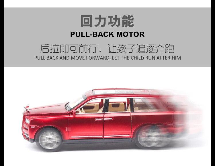 Rolls Royces Cullinan SUV Model Car with Metal Wheels, Sound & Lights 15