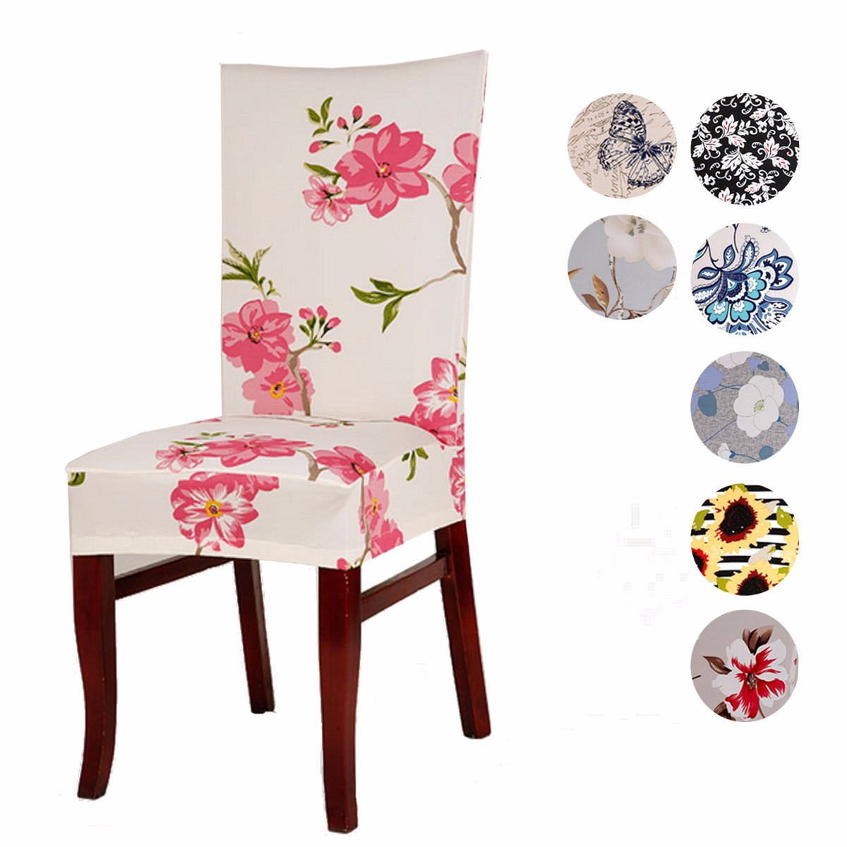 Chair Cover Patterns Us 10 77 49 Off Spandex Stretch 11 Patterns Chair Covers Universal Printing For Home Dining Restaurant Weddings Banquet Hotel Chair Cover Decor In