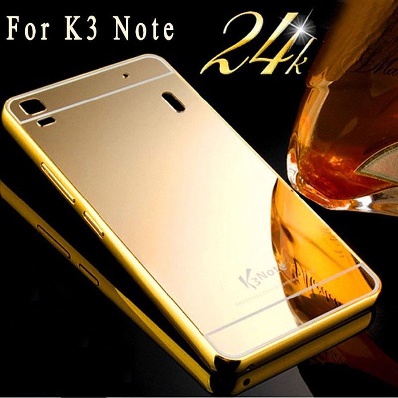 For Lenovo K3 Note Case Aluminum Metal Frame Bumper + Mirror Acrylic Back Cover For Lenovo A7000 K3 note A 7000 k50