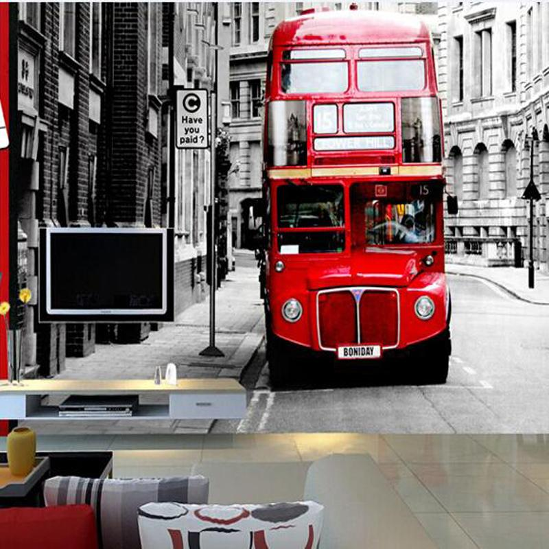 Great Wall European British Double Decker Bus Photo Wallpapers