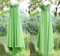 ZAHY Prom Dresses Real Pictures Chiffon Sleeveless A Line Beads Zipper Back Evening Gowns Floor Length 2014 Hot Sales SZJ14