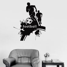 Football Player Sticker Sports Soccer Decal Helmets Kids Room Name Posters Vinyl Wall Decals Football Sticker fo 84013 статуэтка мал футболист the football player forchino