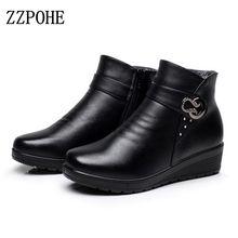 ZZPOHE Automne hiver mode Femmes neige Bottes personnes âgées mère bottes chaudes femmes bottes épaisse chaussures plates confortables vieilles chaussures 41