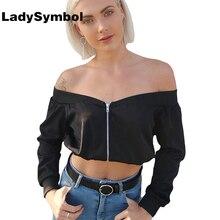 LadySymbol Off Shoulder Long Sleeve Women Blouse Shirt Autumn 2017 Black Blusa Female Elegant Summer Sexy Cool Casual Blouse Top