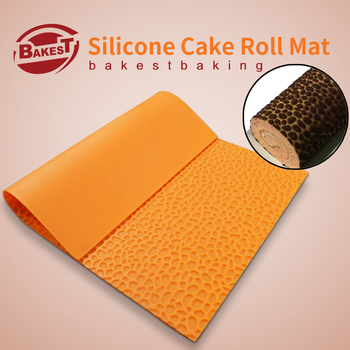 BAKEST  DIY  Water-Drop Pattern Cake Roll Mat Silicone Cake Mold choose color randomly