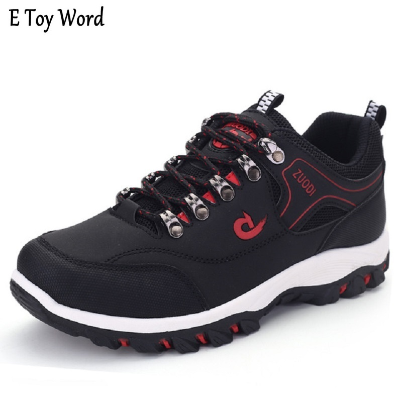 Spring Autumn Men Casual Shoes Breathable Men Shoes Plus Size PU Leather Upper Durable Rubber Outsole Lace-up Footwear