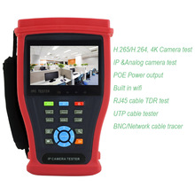 New 4K H.265 IP tester Analog IP CCTV Tester Monitor with Cable tracer test ,RJ45 cable TDR test