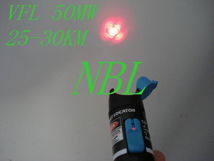 50 mw De Poche Pen Type Fiber Optique Visual Fault Locater Pour Trouver Des Défauts de OTDR (25-30 KM) VFL Rouge Source de Lumière 2016