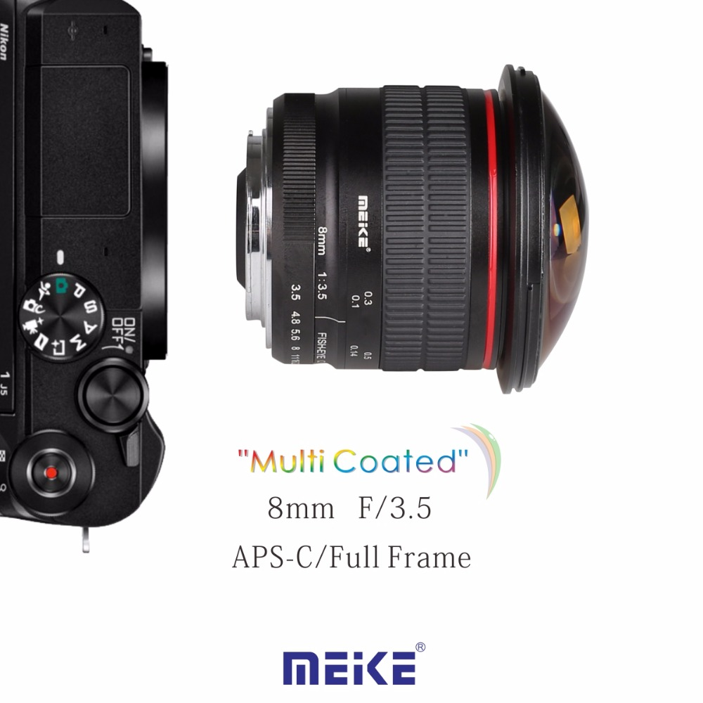 Meike MK F 8 3.5 8mm f/3.5 Fisheye Lens for NIKON DSLR Camera D500 ...