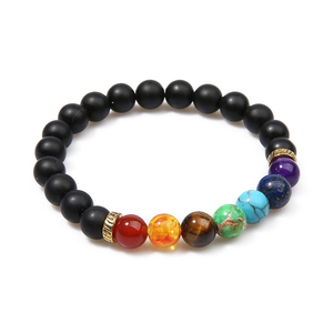Image 4 - OAIITE 7 Chakra Yoga Bracelet Healing Heart Therapy Bracelet Women Men Natural Stone Bead Jewelry Chakra Prayer Balance Bracelet