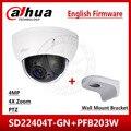Dahua SD22404T-GN 4MP 4x PTZ сетевая камера IVS WDR POE IP66 IK10 Обновление от SD22204T-GN с логотипом Dahua и настенным креплением PFB203W