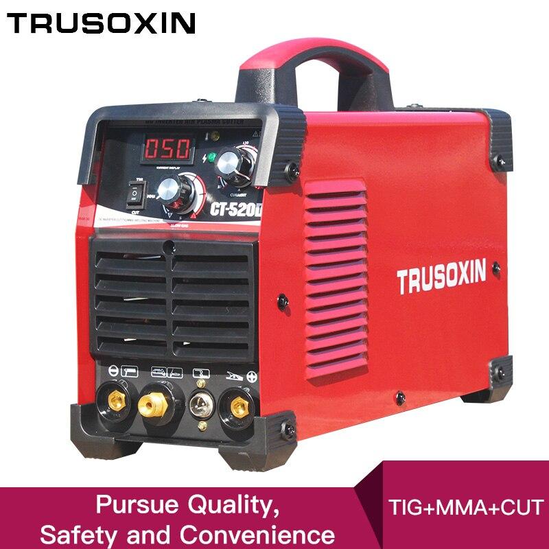 220V New Protable DIY TIG MMA CUT 3 In 1 Multi-Function CT520D Welder Welding Machine Welding Tools