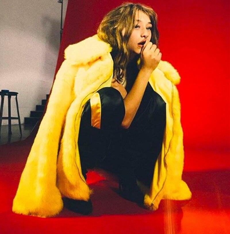 Cool Veste Chaud Hip La Couleur Fourrure De Faux Solide Manteau Hiver Frère Rue Homme Costume Femmes Petit Tu Hop Out Gia Jaune wzq6PaxUnf