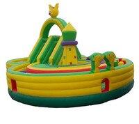 Comercial cama de salto gran tobogán de agua inflables castillo con cama elástica Parque casa juegos gratis  Juegos de la bomba