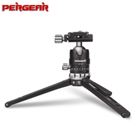 Pergear MT 02 Aluminum Alloy Mini Tabletop Travel Tripod 15kg Payload with 360 Fluid Rotation Ball Head for Camera Camcorder