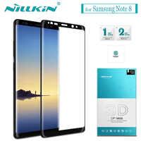 Para Samsung Galaxy Note 10 9 8 S10 S9 S8 Plus Protector de pantalla de vidrio Nillkin 3D cubierta completa de pegamento templado vidrio para Samsung S10E