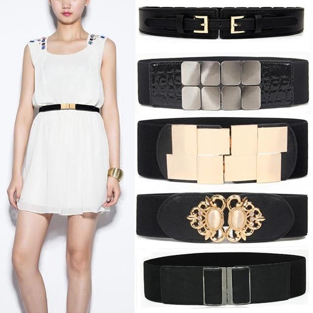 Newest Waistband Women's Elastic Wide Belt Stretchy Corset Female Black Cincher Waistbands wide Belts for Lady Dress Accessories