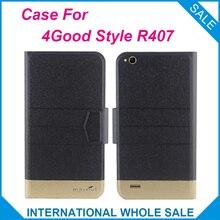 5 Colores! 4 buen estilo r407 case new fashion business case de cuero cierre magnético ultrafino de alta calidad para 4 buen estilo r407