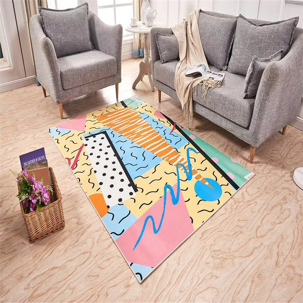 Fashional Multipurpose Decoration 3D Print Floor Mat For
