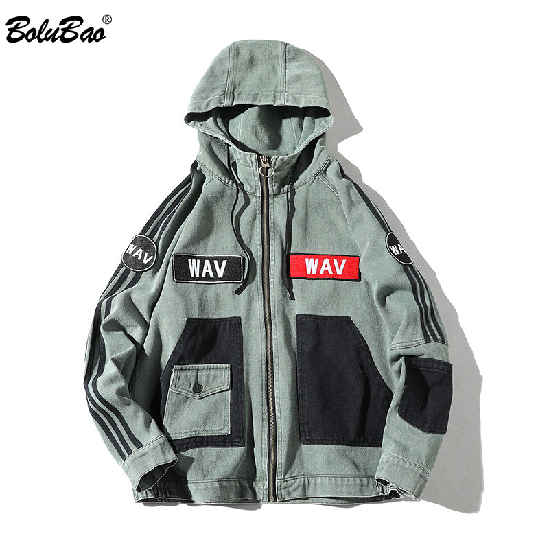 BOLUBAO Fashion Brand Jackets Men 2019 Spring Autumn Men Streetclothing Printing Cardigan Coat Jacket Mens Hip-Hop Jackets Coats