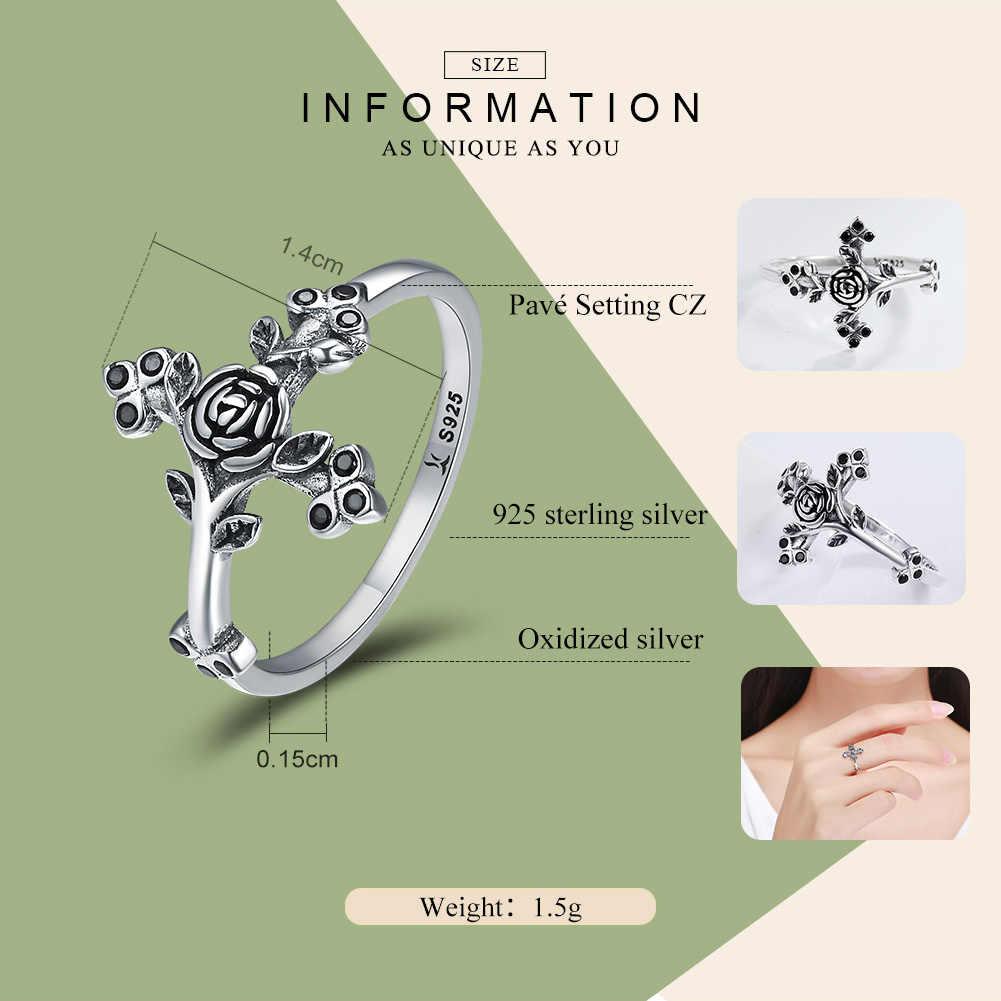 WOSTU Новая Коллекция стерлингового серебра 925 пробы любовь верования вера перстни в форме Креста для женщин ювелирные изделия из стерлингового серебра Anel CQR179