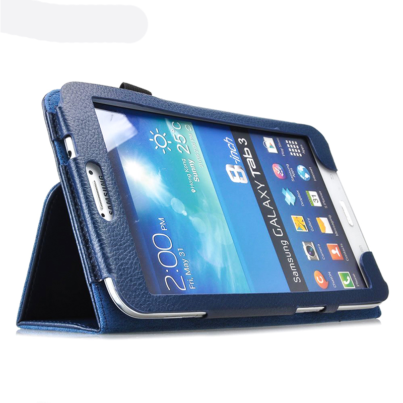 Funda for Samsung Galaxy Tab 3 8.0 Case T310 T311 Folding Folio Smart Stand Cover Case for Samsung Galaxy Tab 3 8.0 Tablet Cases bk 310 bluetooth v3 0 ultra thin 59 key keyboard for samsung galaxy tab 3 t310 t311 blue