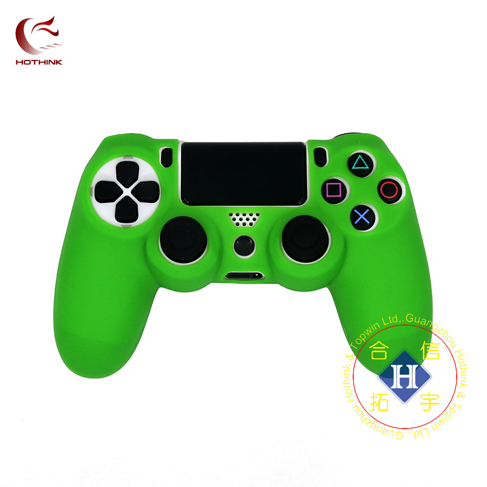 Купить с кэшбэком HOTHINK Protective Silicone Case Skin cover Soft case for Playstation 4 Slim PS4 Pro Controller dualshock 4 gamepad