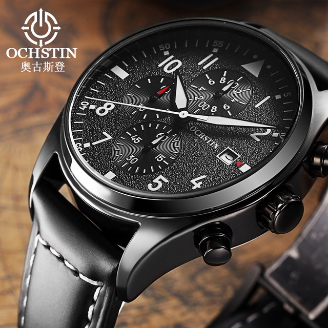c6ee0d90f8e OCHSTIN Chronograph Date Men Watch Top Brand Luxury Military Sport Male  Clock Casual Fashion Wrist Quartz Mens Watches Gift 043B