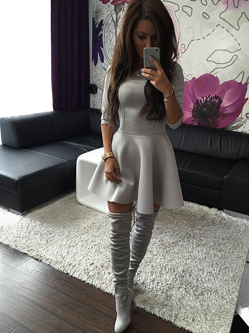 UK Womens Bodycon Long Sleeve Dress Ladies Party Evening Mini Dress Size 6-14
