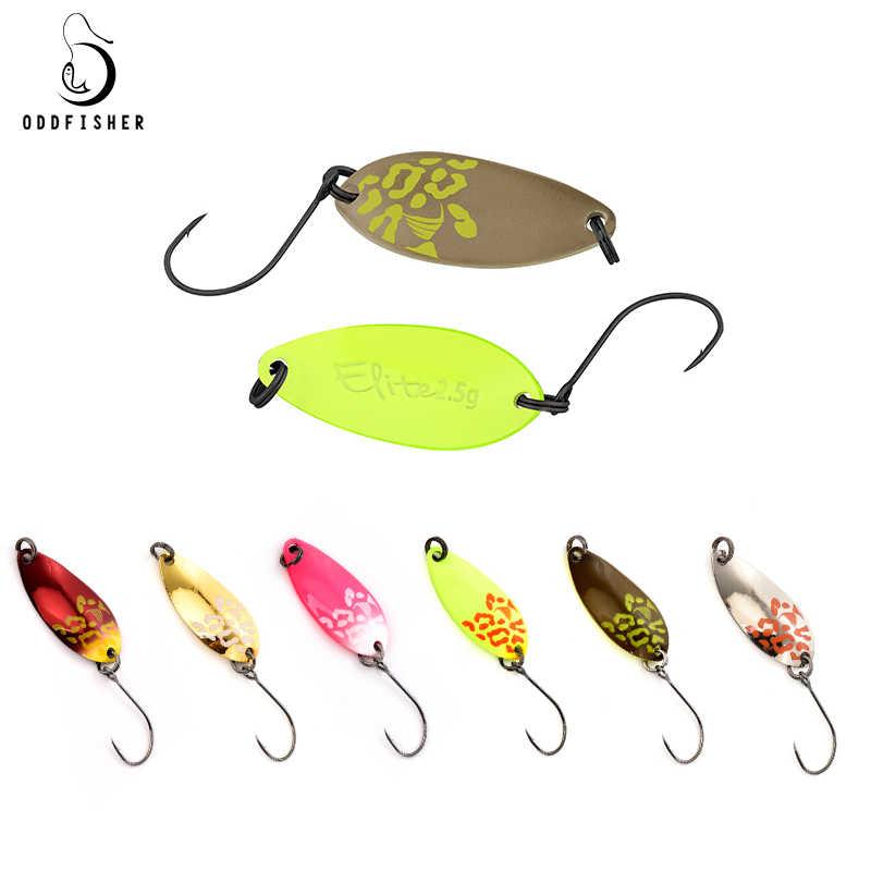 Nuevas cucharas de pesca señuelos de trucha 1,5g 2,5g 3,5g cebo duro 27mm señuelo de fundición de Metal con un solo gancho aparejo de calidad para la pesca