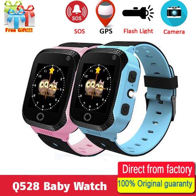 ce48e8e602e Q528 Y21 Crianças GPS Relógio da Tela de Toque com Iluminação Câmera  Relógio Inteligente Sono Monitor