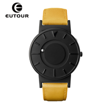 2017 new EUTOUR Magnetic Watch Simple Mens Watches Top Brand Luxury Relogio Masculino fashion leather male quartz Wristwatches